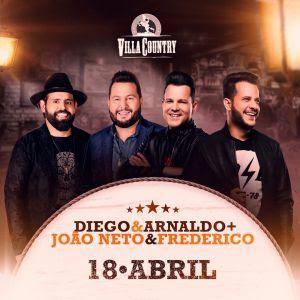 João Neto e Frederico e Diego e Arnaldo em grande noite no Villa Country – 18 Abril