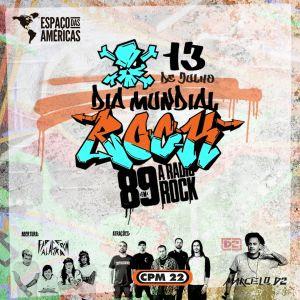 89FM faz grande festa em comemoração ao Dia Mundial do Rock no Espaço das Américas – 13 Julho