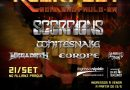Scorpions, Helloween, Whitesnake, Europe e a banda brasileira Armored Dawn se apresentam no festival Rockfest