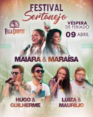 Villa Country realiza mais um Festival Sertanejo para agitar as vésperas de feriado
