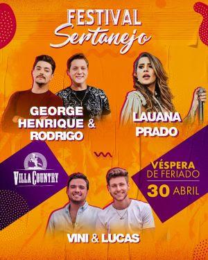 Festival Sertanejo do Villa Country apresenta grandes nomes
