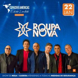 Roupa Nova volta aos palcos do Espaço das Américas em novo formato de shows