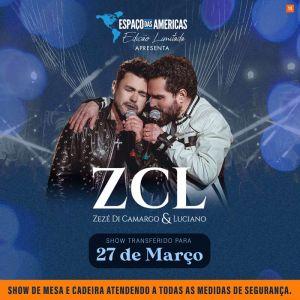Completando 30 anos de carreira, Zezé Di Camargo e Luciano realizam show celebrativo no Espaço das Américas