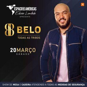 """Com show """"Todas as Tribos"""", Belo se apresenta dia 20 de março no Espaço das Américas – Edição Limitada, em São Paulo"""